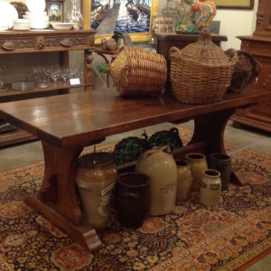 French Trestle Farm Table